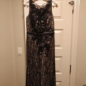 Dresses & Skirts - Formal Black Gown with sequence and stones